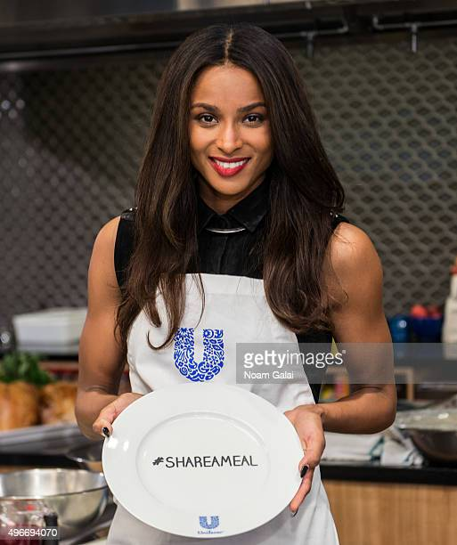 Singer Ciara attends the 2015 Share A Meal program at Institute of Culinary Education on November 11 2015 in New York City