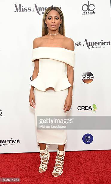 Singer Ciara attends the 2017 Miss America Competition Red Carpet at Boardwalk Hall Arena on September 11 2016 in Atlantic City New Jersey