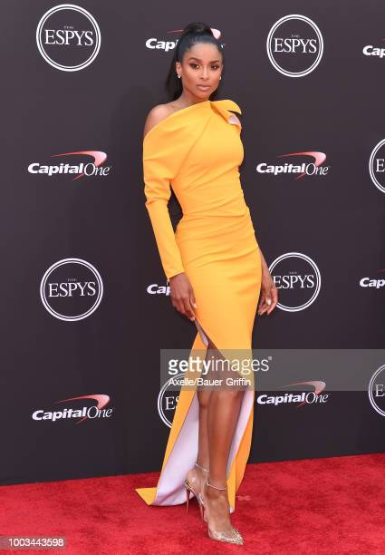 Singer Ciara attends The 2018 ESPYS at Microsoft Theater on July 18 2018 in Los Angeles California