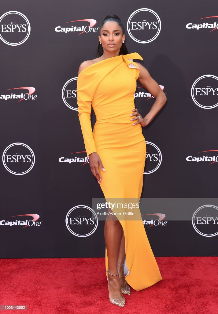 Singer Ciara attends The 2018 ESPYS at Microsoft Theater on July 18, 2018 in Los Angeles, California.