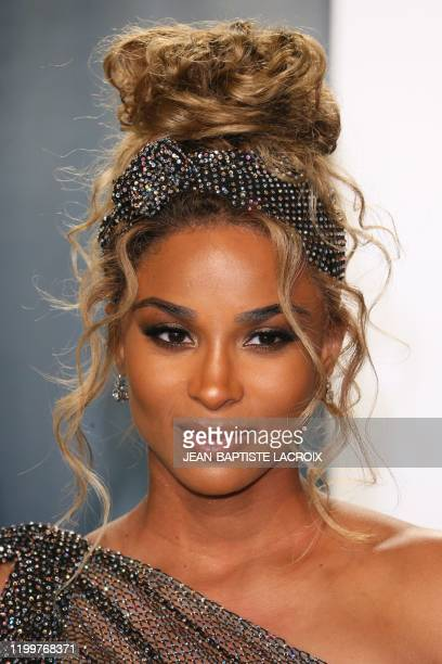 Singer Ciara attends the 2020 Vanity Fair Oscar Party following the 92nd Oscars at The Wallis Annenberg Center for the Performing Arts in Beverly...