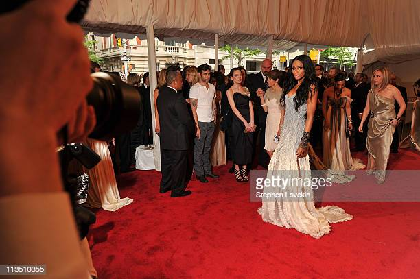 Singer Ciara attends the Alexander McQueen Savage Beauty Costume Institute Gala at The Metropolitan Museum of Art on May 2 2011 in New York City