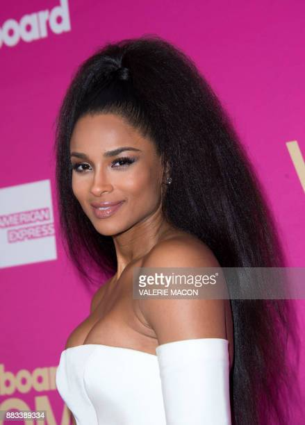 Singer Ciara attends the Billboard Women In Music 2017 at the Ray Dolby Ballroom on November 30 in Hollywood California / AFP PHOTO / VALERIE MACON