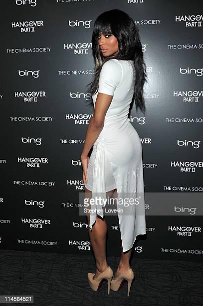 Singer Ciara attends the Cinema Society Bing screening of The Hangover Part II at Landmark Sunshine Cinema on May 23 2011 in New York City