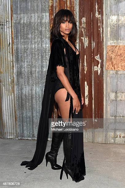 Singer Ciara attends the Givenchy fashion show during Spring 2016 New York Fashion Week at Pier 26 at Hudson River Park on September 11 2015 in New...