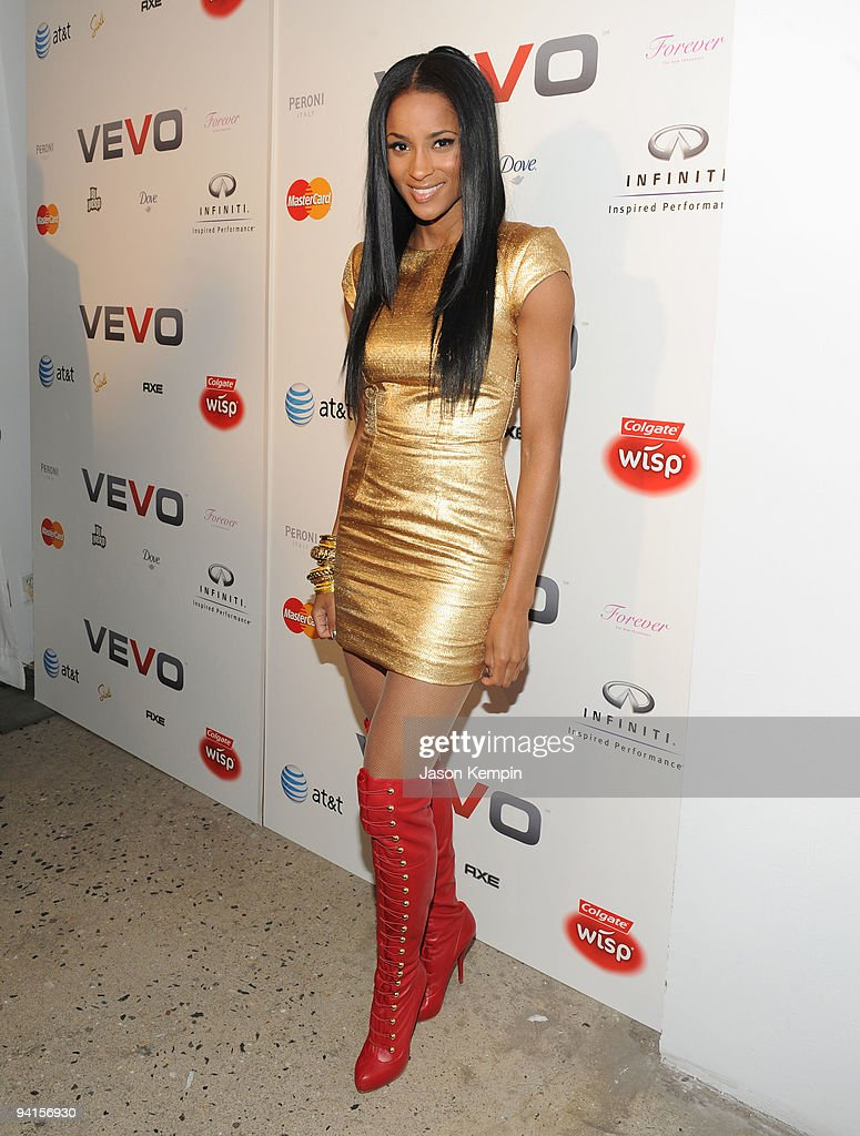 Singer Ciara attends the launch of VEVO, a music-video website, at Skylight Studio on December 8, 2009 in New York City.