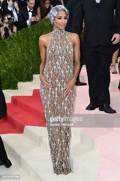 Singer Ciara attends the 'Manus x Machina Fashion In An Age Of Technology' Costume Institute Gala at Metropolitan Museum of Art on May 2 2016 in New...