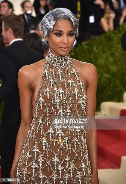Singer Ciara attends the Manus x Machina Fashion In An Age Of Technology Costume Institute Gala at Metropolitan Museum of Art on May 2 2016 in New...