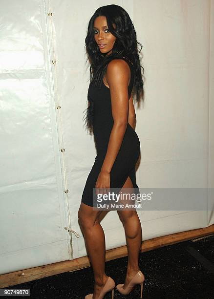 Singer Ciara attends Tracy Reese Spring 2010 during MercedesBenz Fashion Week at Bryant Park on September 14 2009 in New York City