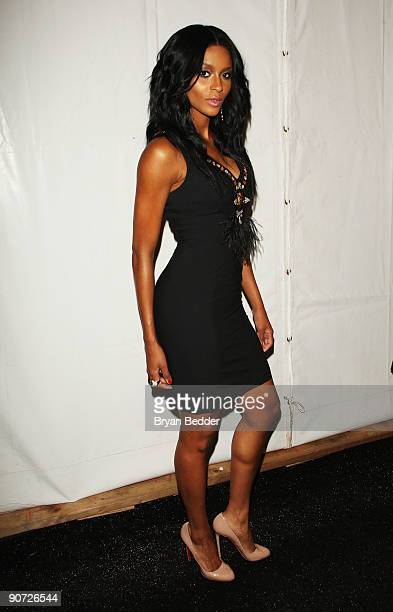 Singer Ciara attends Tracy Reese Spring 2010 fashion show at the Salon at Bryant Park on September 14 2009 in New York New York