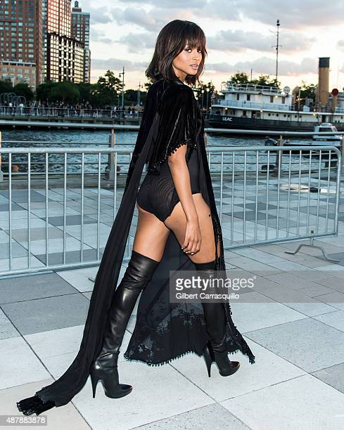 Singer Ciara is seen arriving at the Givenchy fashion show during Spring 2016 New York Fashion Week on September 11 2015 in New York City