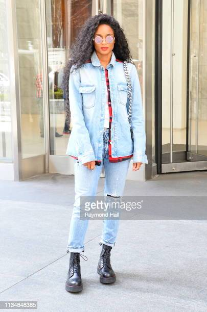 Singer Ciara is seen in soho on April 4 2019 in New York City