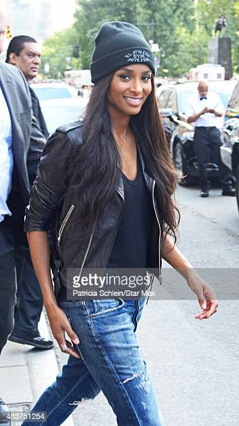 Singer Ciara is seen on August 12 2015 in New York City
