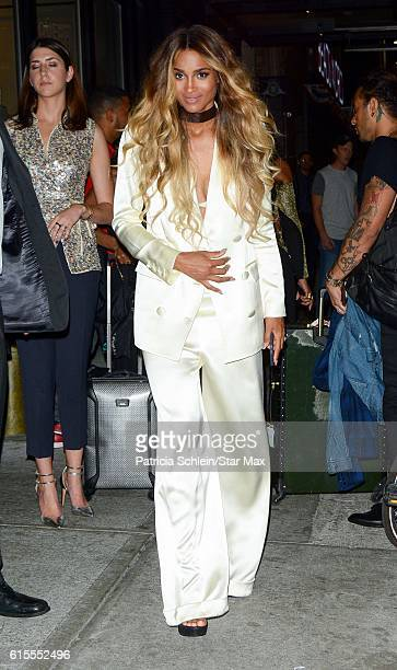 Singer Ciara is seen on October 18 2016 in New York City