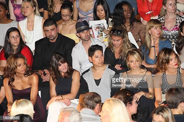 Singer Ciara Nicole Richie and Actress Molly Sims sit front row at the Max Azria Fashion MercedesBenz Fashion Week Spring 2008 New York New York