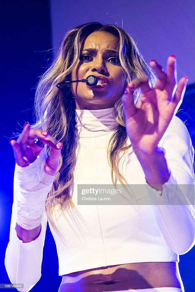Singer Ciara performs at Myspace LIVE series at Key Club on November 19, 2012 in West Hollywood, California.
