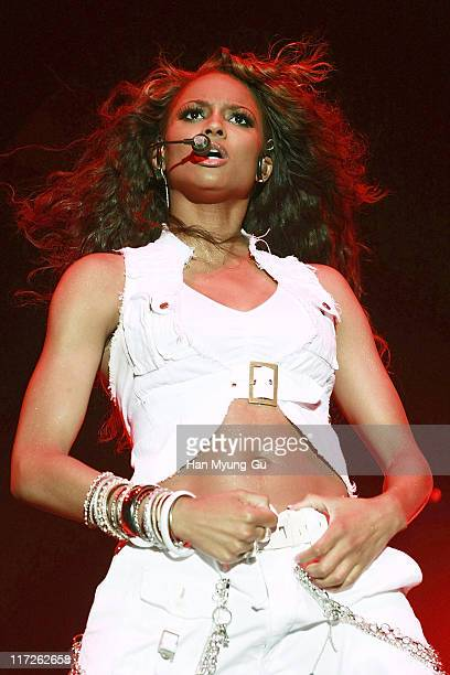 Singer Ciara performs at the Fencing Stadium Olympic Park on October 19 in Seoul South Korea