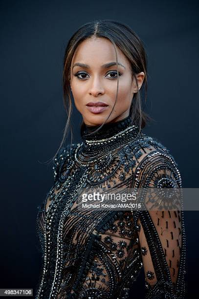 Singer Ciara poses for a portrait during the 2015 American Music Awards at Microsoft Theater on November 22 2015 in Los Angeles California
