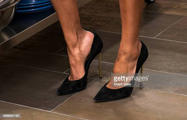 Singer Ciara shoe detail attends the 2015 Share A Meal program at Institute of Culinary Education on November 11 2015 in New York City