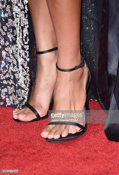 Singer Ciara shoe detail attends The 58th GRAMMY Awards at Staples Center on February 15 2016 in Los Angeles California