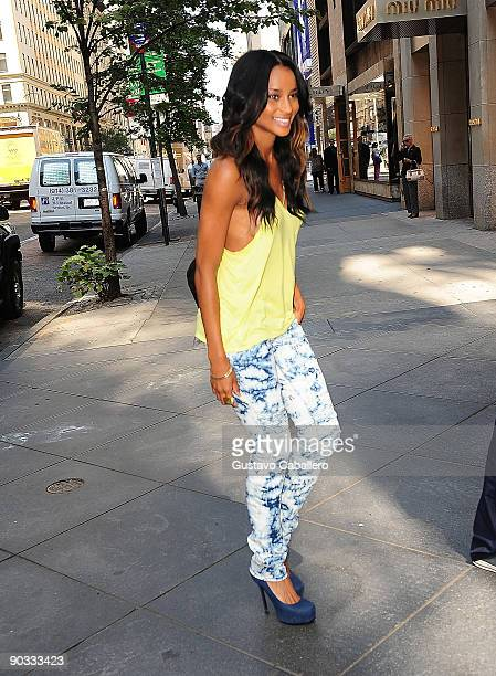 Singer Ciara visits the Chanel Boutique on September 3 2009 in New York City