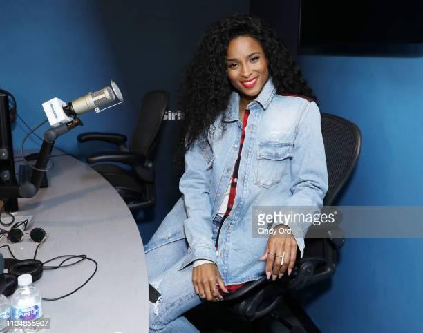 Singer Ciara visits the SiriusXM Studios on April 4, 2019 in New York City.