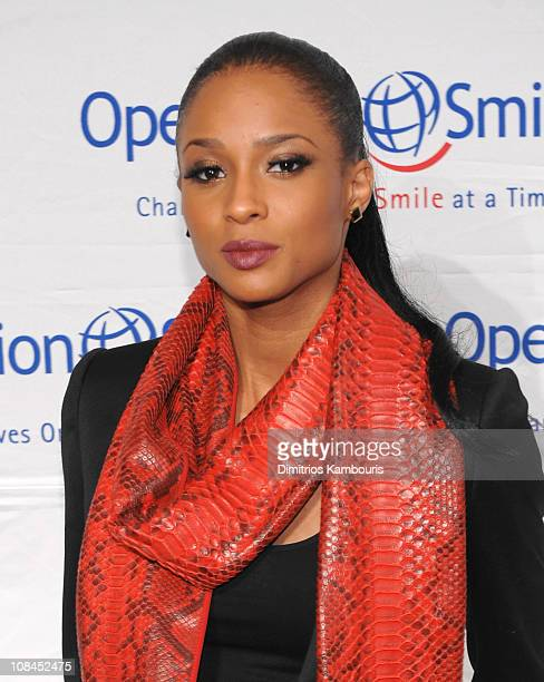 Singer Ciara walks the red carpet during the 2009 Smile Event presented by Operation Smile at Cipriani Wall Street on May 7, 2009 in New York City.