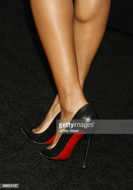 Singer Ciara's shoes at the Los Angeles Special Screening of 'GI Joe The Rise of Cobra' at the Grauman's Chinese Theatre on August 6 2009 in...