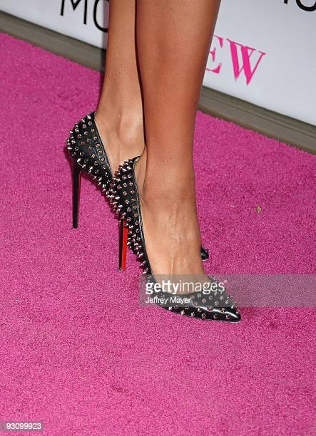 Singer Ciara's shoes at the MOCA NEW 30th anniversary gala held at MOCA Grand Avenue on November 14 2009 in Los Angeles California