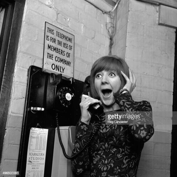 Singer Cilla Black reacting to the news that she will be appearing in the Royal Variety Performance, London, October 20th 1964.