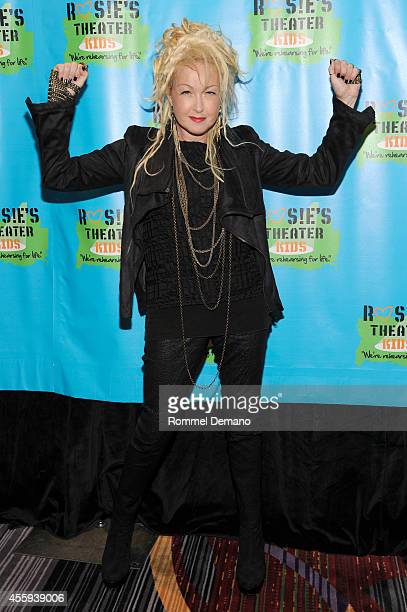Singer Cindi Lauper attends the 11th Annual Rosie's Theater Kids Benefit Gala at The New York Marriott Marquis on September 22 2014 in New York City