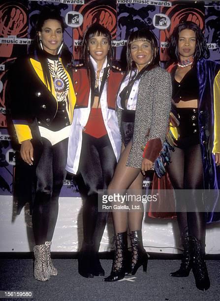 Singer Cindy Herron Singer Terry Ellis Singer Maxine Jones and Singer Dawn Robinson attend the Ninth Annual MTV Video Music Awards on September 9...