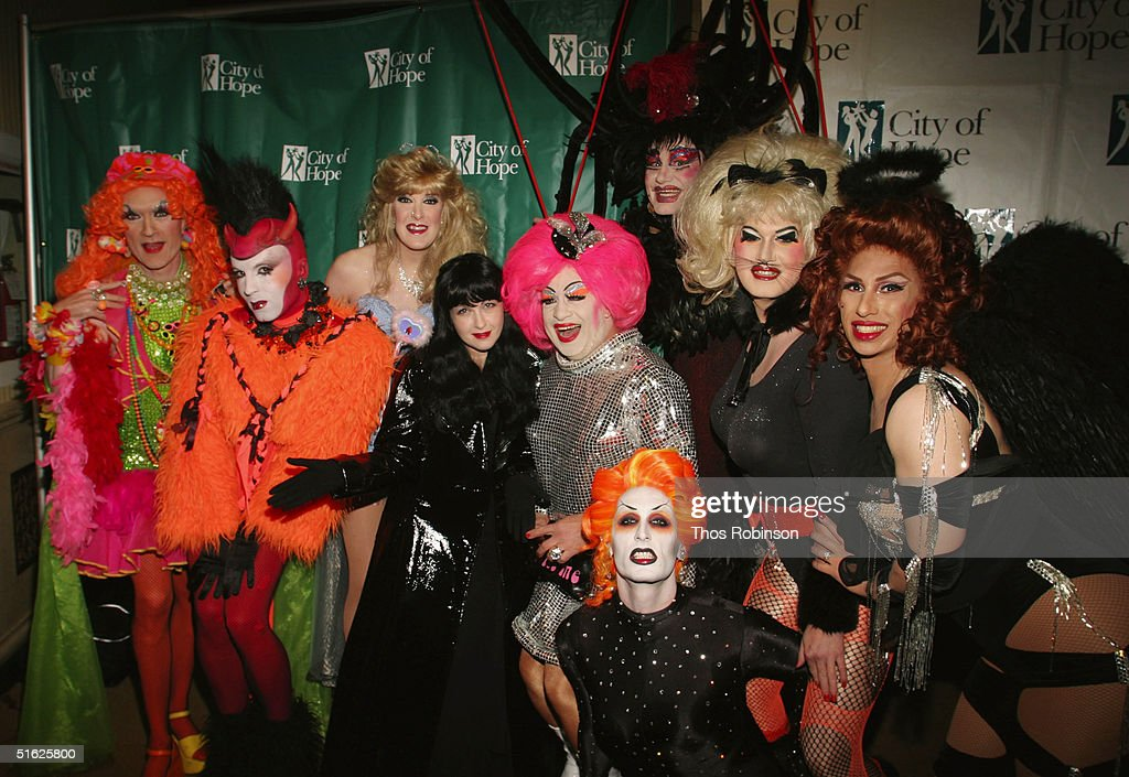 singer cindy lauper and dancers attend the halloween gala for the city of hope cancer center