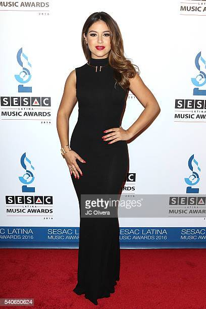 Singer Cinthya Carmona attends The 2016 SESAC Latina Music Awards at The Beverly Hills Hotel on June 15 2016 in Beverly Hills California