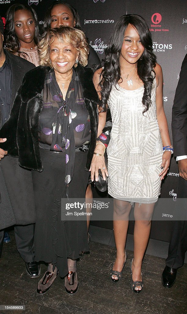 Singer Cissy Houston and TV Personality Bobbi Kristina Brown attend 'The Houstons: On Our Own' Series Premiere Party at Tribeca Grand Hotel on October 22, 2012 in New York City.