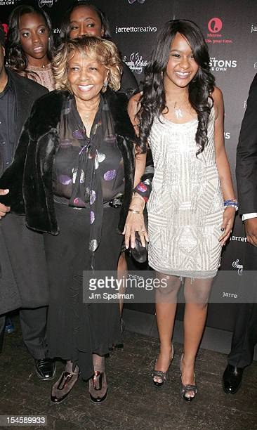 Singer Cissy Houston and TV Personality Bobbi Kristina Brown attend 'The Houstons On Our Own' Series Premiere Party at Tribeca Grand Hotel on October...