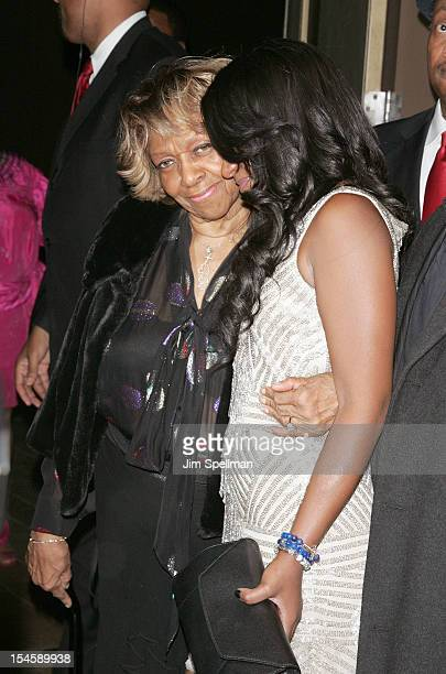 """Singer Cissy Houston and TV Personality Bobbi Kristina Brown attend """"The Houstons: On Our Own"""" Series Premiere Party at Tribeca Grand Hotel on..."""