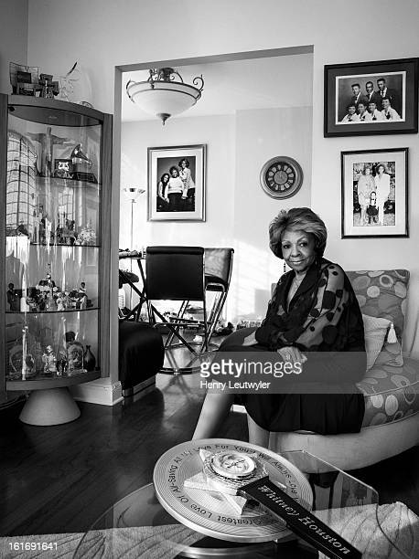 Singer Cissy Houston is photographed at home for People Magazine on January 19 2013 in New Jersey