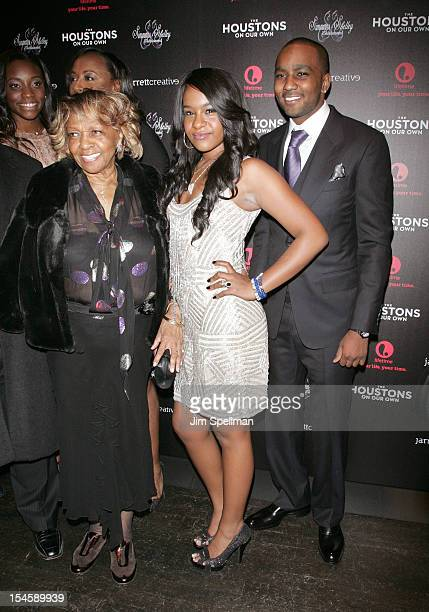 """Singer Cissy Houston , TV Personalities Bobbi Kristina Brown and Nick Gordon attend """"The Houstons: On Our Own"""" Series Premiere Party at Tribeca Grand..."""
