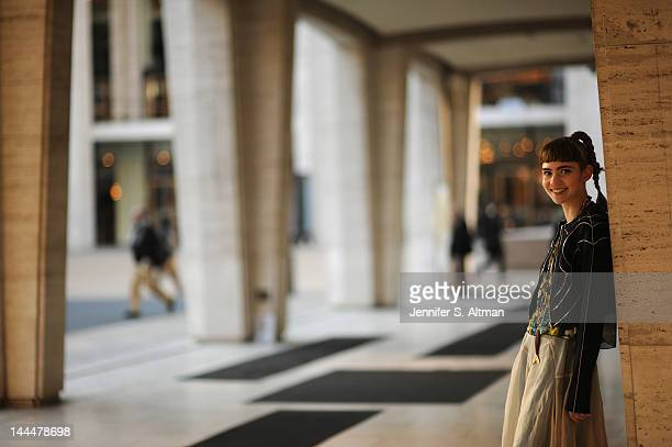 Singer Claire Boucher aka Grimes is photographed for New York Times on February 13 2012 at Lincoln Center in New York City