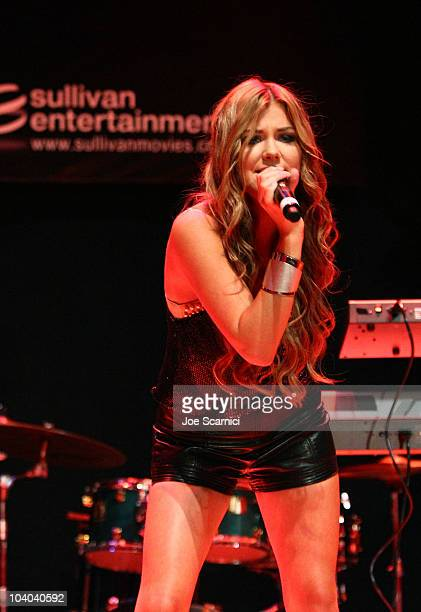 Singer Clara Hagman of the band Ace of Base performs at the amfAR Cinema Against AIDS held at The Carlu during the Toronto International Film...