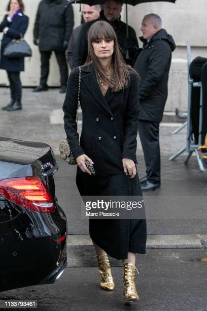 Singer Clara Lucciani attends the Chanel show as part of the Paris Fashion Week Womenswear Fall/Winter 2019/2020 on March 05, 2019 in Paris, France.