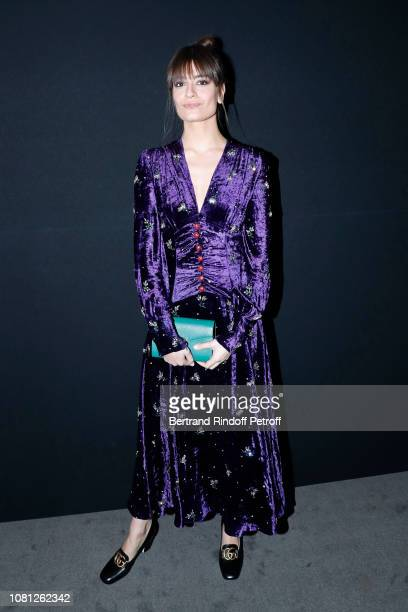 Singer Clara Luciani attends the Annual Charity Dinner hosted by the AEM Association Children of the World for Rwanda at Pavillon Ledoyen on December...