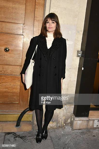 Singer Clara Luciani attends the 'As Hard' Pierre Emery Paintings /Collages Exhibition at Galerie Taglialatella Paris on April 28 2016 in Paris France