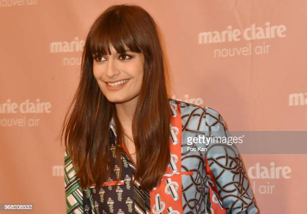 Singer Clara Luciani fromLa Femme band attends Marie Claire Nouvelle Air Cocktail at Hotel Lutetia on June 5 2018 in Paris France