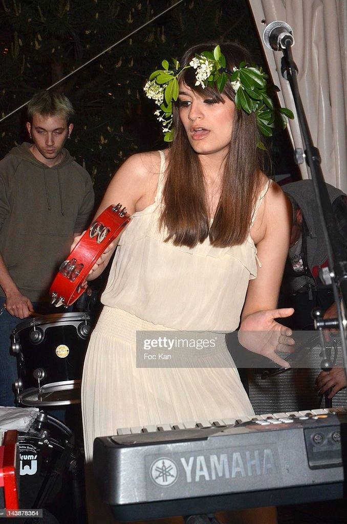 Singer Clara Luciani of La Femme performs during the Veillee Foodstock Party 2nd Night At MAC/VAL on May 4, 2012 in Vitry sur Seine, France.