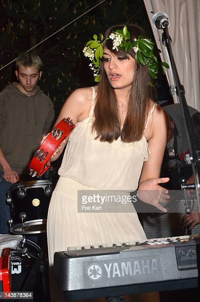 Singer Clara Luciani of La Femme performs during the Veillee Foodstock Party 2nd Night At MAC/VAL on May 4 2012 in Vitry sur Seine France