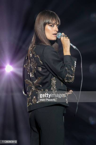 Singer Clara Luciani performs during the 34th Victoires de la Musique at La Seine Musicale on February 08 2019 in BoulogneBillancourt France