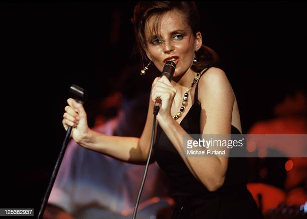 Singer Clare Grogan performing with Scottish new wave group Altered Images New York City August 1983