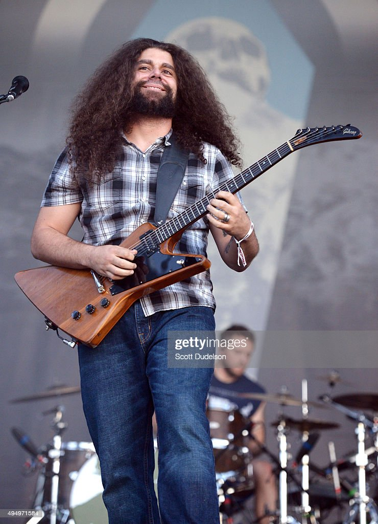 Singer Claudio Sanchez of Coheed and Cambria performs onstage at Gibson Ranch County Park on October 25, 2015 in Sacramento, California.